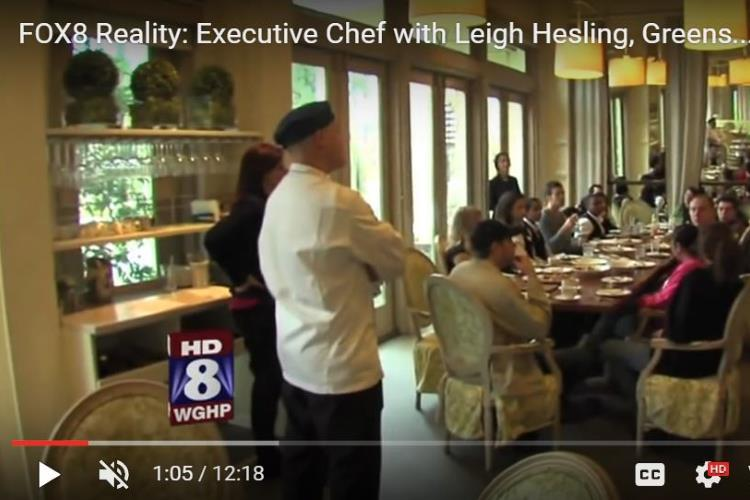 Chef Leigh Hesling with Fox8 Feature