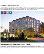 Southern Living Best Hotels in the South, Proximity Hotel