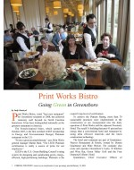 Cooking for Profit Magazine article about Print Works Bistro